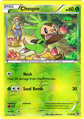 Chespin - 7/162 - Common - Reverse Holo