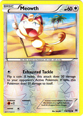 Meowth - 114/162 - Common - Reverse Holo
