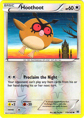 Hoothoot - 119/162 - Common - Reverse Holo