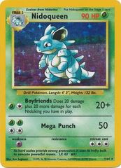 Nidoqueen - 7/64 - Holo Rare - Unlimited Edition - Missing Set Symbol