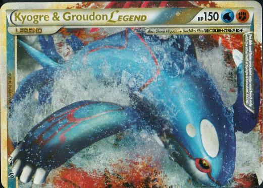 Kyogre & Groudon LEGEND (Top) - 87/90 - Rare Holo Legend