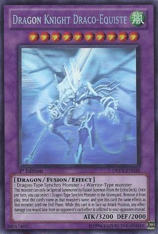 Dragon Knight Draco-Equiste - DREV-EN038 - Ghost Rare - 1st Edition
