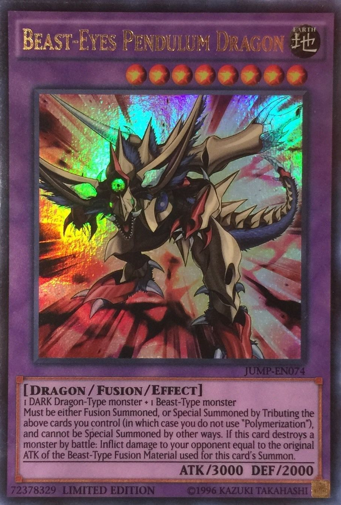 Beast Eyes Pendulum Dragon Jump En074 Ultra Rare