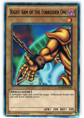 Right Arm of the Forbidden One - YGLD-ENA20 - Ultra Rare - 1st Edition