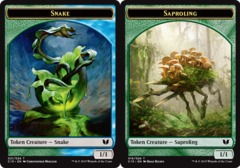 Snake Token (Blue/Green) // Saproling Token