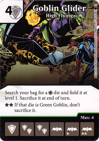 Goblin Glider - High Flying (Die & Card Combo) - Dice Masters