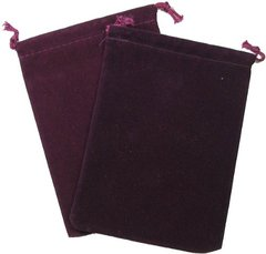 Chessex Velour Dice Bag Large Burgundy 5