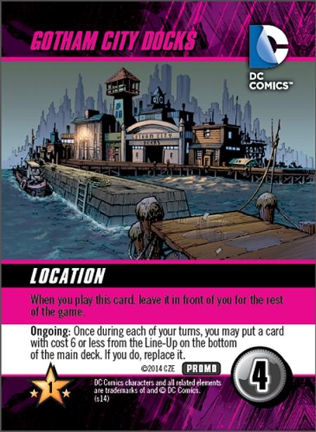 DC Comics Deck Building Game: Gotham City Docks Promo