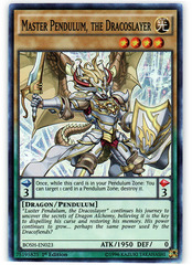 Master Pendulum, the Dracoslayer - BOSH-EN023 - Super Rare - 1st Edition