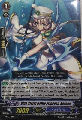 Blue Storm Battle Princess, Koralia - PR/0236EN - PR