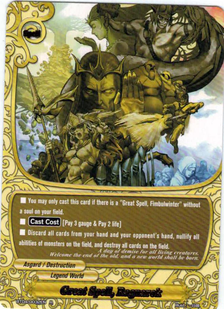 Great Spell, Ragnarok - BT04/0032 - R - Foil - Future Card