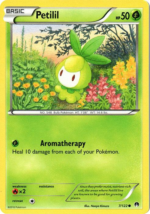 Pokemon card Petilil 7//122 Basic Common Grass Mint