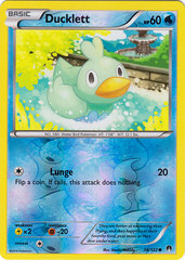 Ducklett - 36/122 - Common - Reverse Holo on Channel Fireball