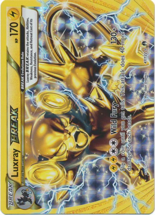 Luxray Break 47 122 Rare Break Pokemon Card Singles