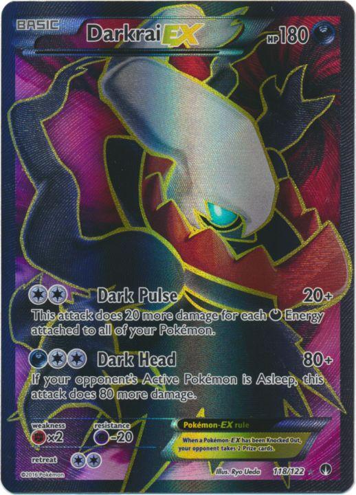Darkrai-EX - 118/122 - Full Art Ultra Rare