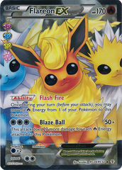 Flareon-EX - RC28/32 - Full Art Ultra Rare