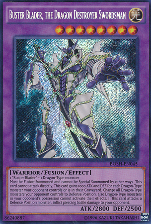 Buster Blader, the Dragon Destroyer Swordsman - BOSH-EN045 - Secret Rare - Unlimited Edition