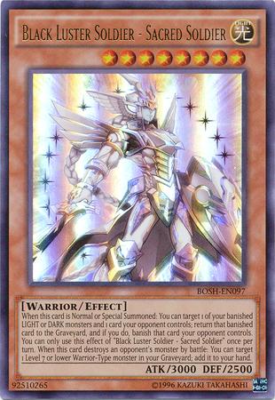 Black Luster Soldier - Sacred Soldier - BOSH-EN097 - Ultra Rare - Unlimited Edition