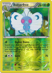 Butterfree - 5/83 - Holo Rare - Reverse Holo on Channel Fireball