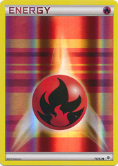Fire Energy - 76/83 - Common - Reverse Holo on Channel Fireball