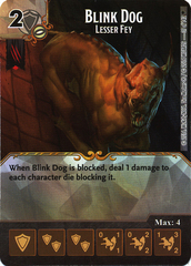 Blink Dog - Lesser Fey (Die & Card Combo)