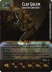 Clay Golem - Greater Construct (Die & Card Combo)