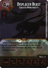 Displacer Beast - Greater Monstrosity (Die & Card Combo)