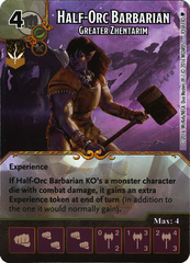 Half-Orc Barbarian - Greater Zhentarim (Die & Card Combo)