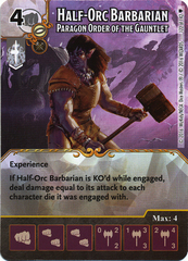 Half-Orc Barbarian - Paragon Order of the Gauntlet (Die & Card Combo)