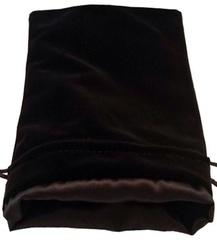 Large Dice Bag Black Velvet with Black Satin Lining (6x8 inch)