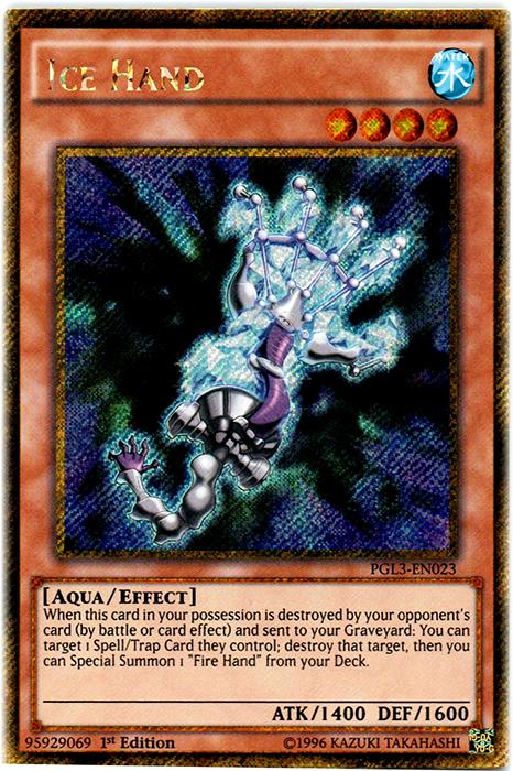 Ice Hand - PGL3-EN023 - Gold Secret Rare - 1st Edition