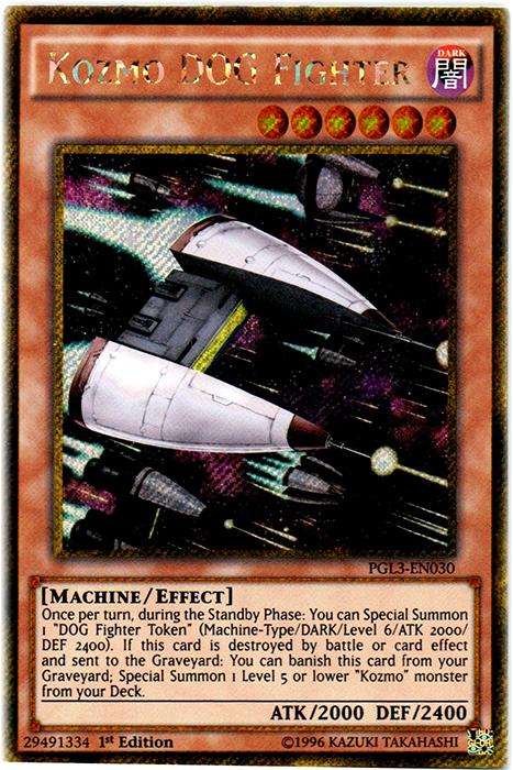 Kozmo DOG Fighter - PGL3-EN030 - Gold Secret Rare - 1st Edition