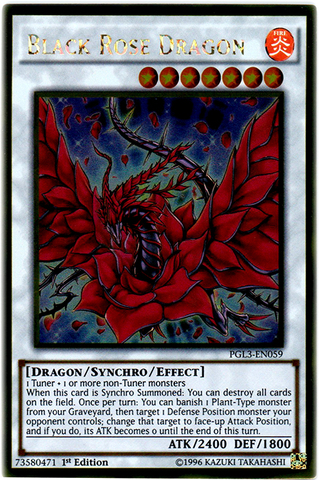 Black Rose Dragon - PGL3-EN059 - Gold Rare - 1st Edition
