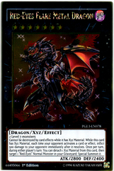Red-Eyes Flare Metal Dragon   - PGL3-EN078 - Gold Rare