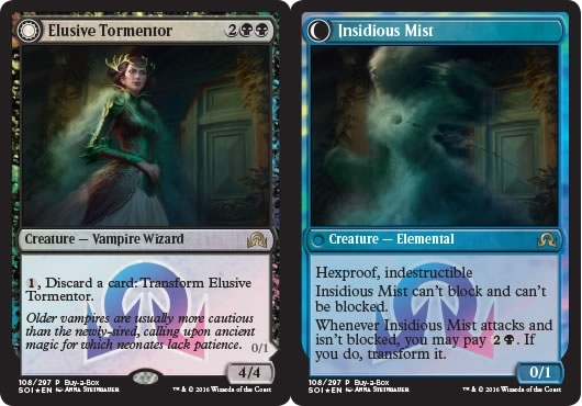 Elusive Tormentor // Insidious Mist (Shadows Over Innistrad Buy-a-Box Promo)