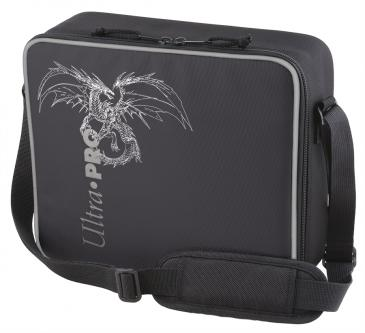 Deluxe Gaming Case Black Dragon with Silver Trim