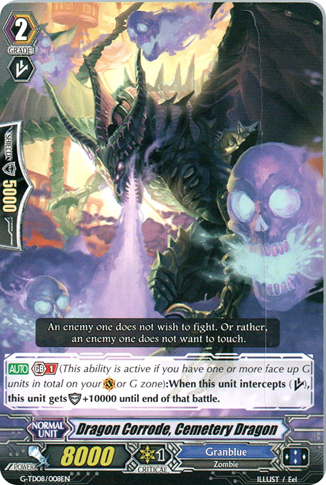 Dragon Corrode, Cemetery Dragon - G-TD08/008EN