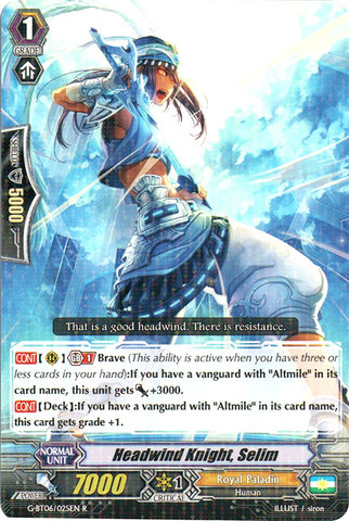 Headwind Knight, Selim - G-BT06/025EN - R