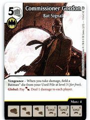 Commissioner Gordon - Bat Signal (Die & Card Combo)