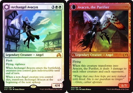 Archangel Avacyn // Avacyn, the Purifier - Foil - Prerelease Promo
