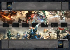 Conquest LCG - Unending War Two-Player Playmat
