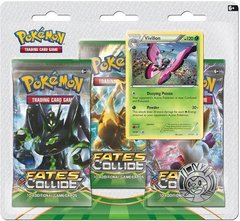 XY - Fates Collide - Three Pack Blister -  Vivillon Promo