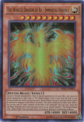 The Winged Dragon of Ra - Immortal Phoenix - MIL1-EN001 - Ultra Rare - 1st Edition on Channel Fireball
