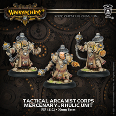 Tactical Arcanist Corps Rhulic Unit (3) (White Metal)