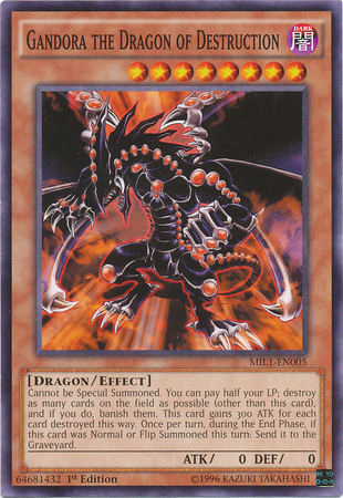 Gandora the Dragon of Destruction - MIL1-EN005 - Common - 1st Edition