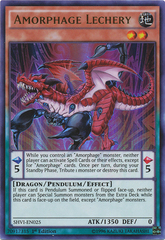 Amorphage Lechery - SHVI-EN025 - Ultra Rare - 1st Edition on Channel Fireball