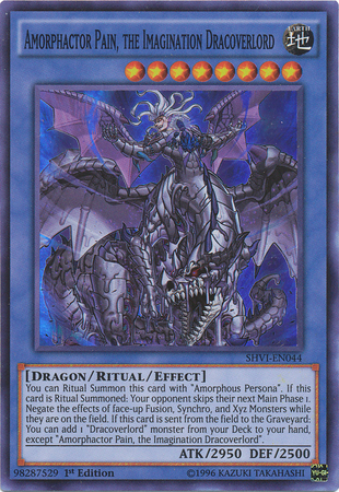 Amorphactor Pain, the Imagination Dracoverlord - SHVI-EN044 - Super Rare - 1st Edition