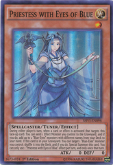 Priestess with Eyes of Blue - SHVI-EN098 - Super Rare - 1st Edition