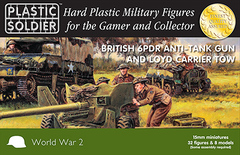 British 6 pdr Anti-Tank Gun and Loyd Carrier (32 figures & 8 Models)