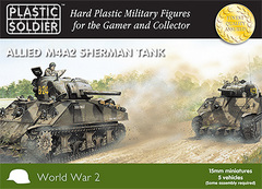 Allied M4A2 Sherman Tank (5 vehicles)